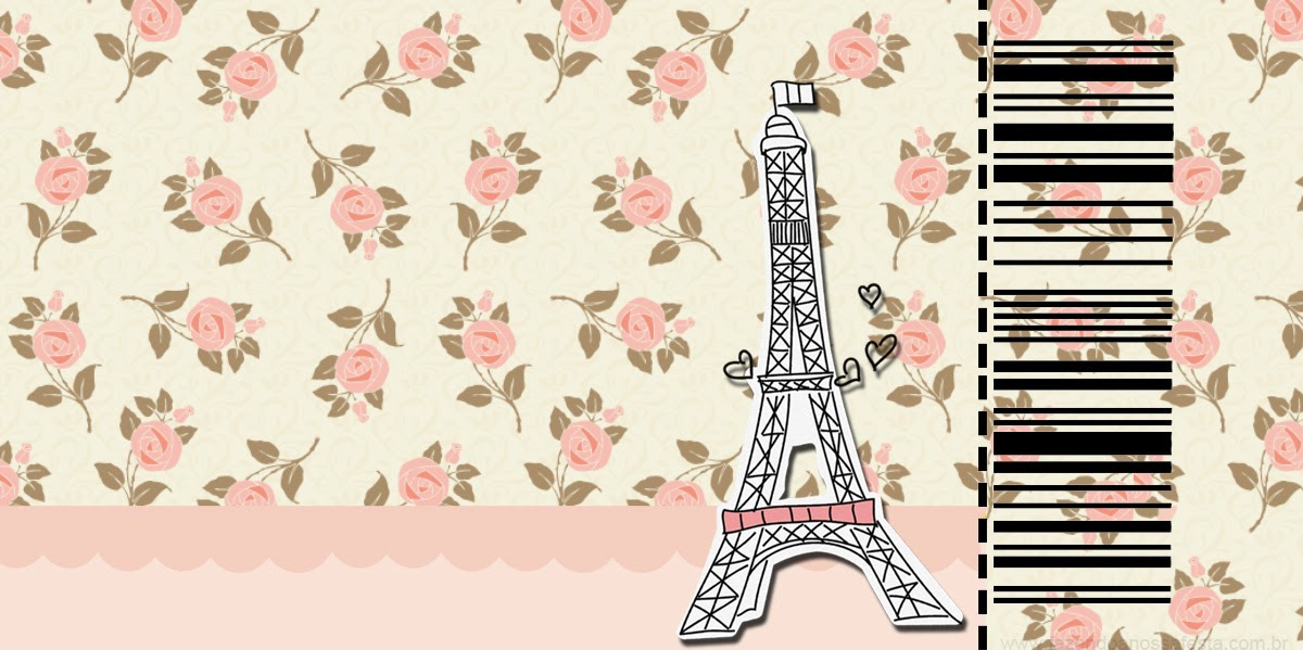Paris with roses free printable cards or invitations is it for