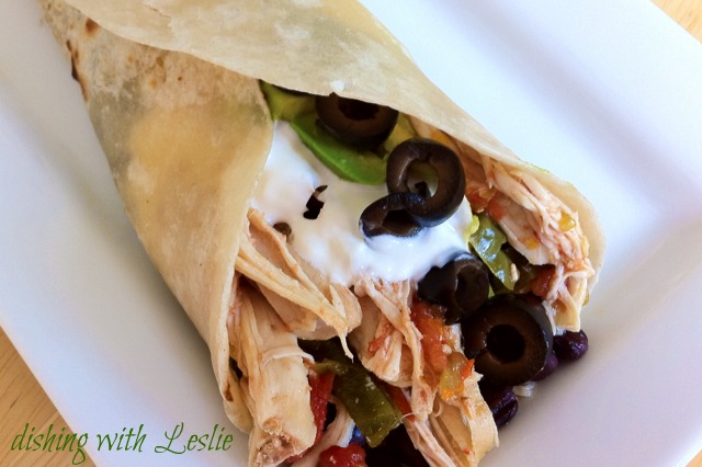Chicken Burritos (Slow Cooker) Or tacos...or tostadas...Just EAT them!