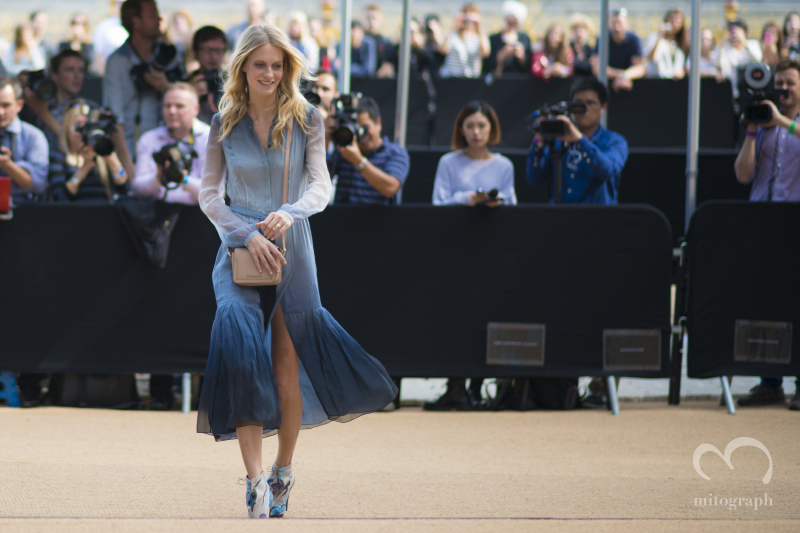 Poppy Delevingne at Burberry Prorsum 2015 Spring Summer show during London Fashion Week LFW