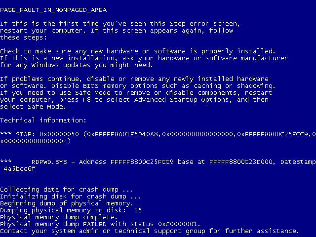 ms12-020 remote desktop bluescreen