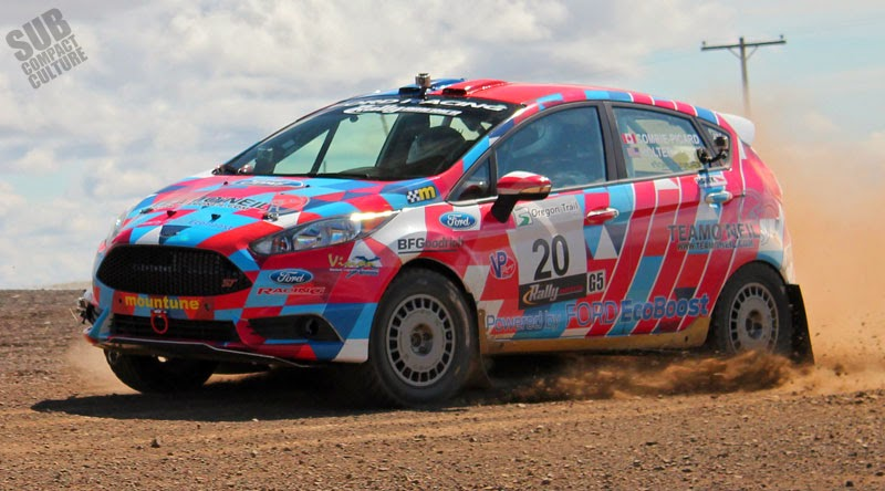 Ford Fiesta ST rally car at Oregon Trail Rally