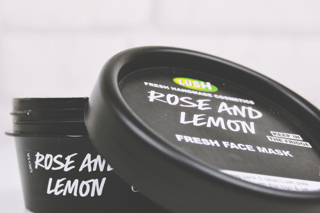 Review of Lush Rose and Lemon Face Mask
