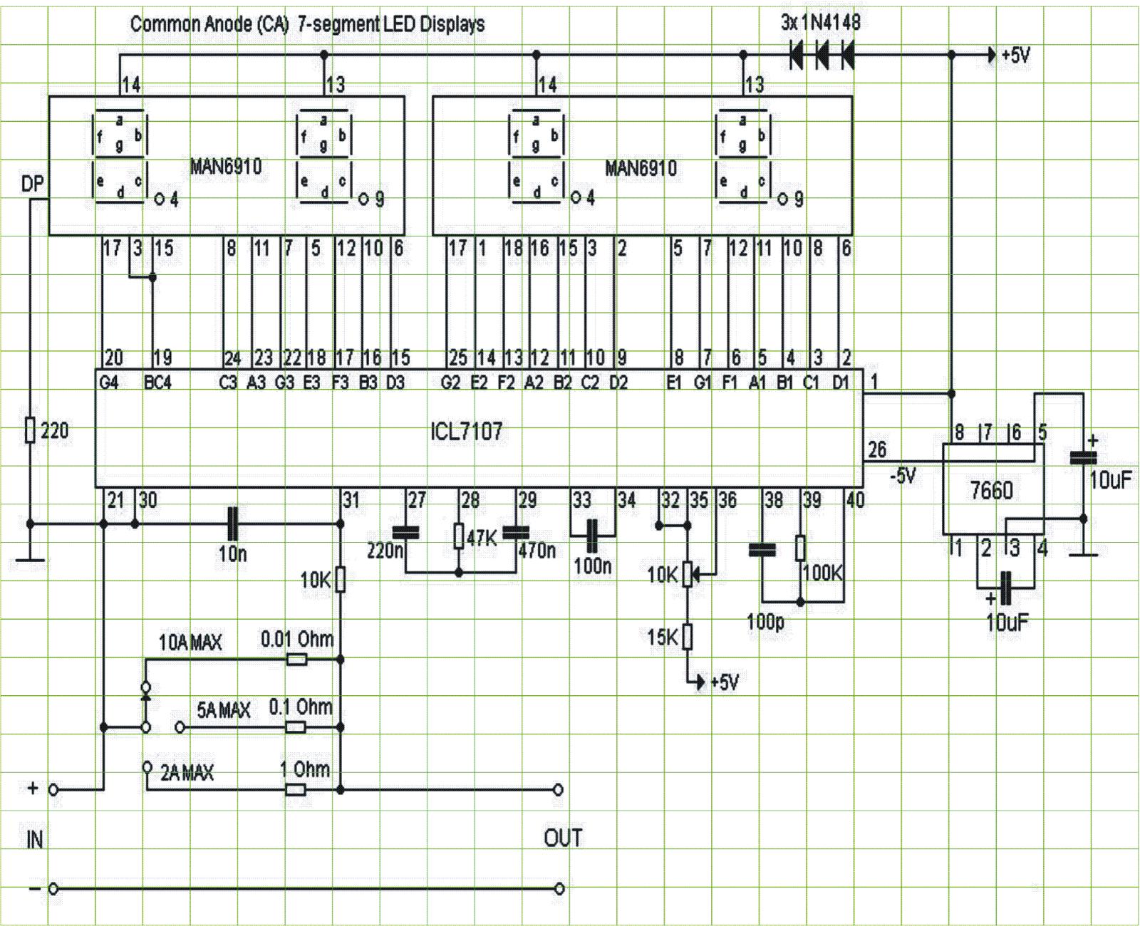 Icl7107 Ammeter Circuit Diagram Wiring Home Amperage Gauge Digital Using Ic L7107 Expert Circuits Gm Amp