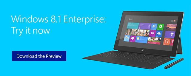 Windows 8.1 Enterprise released