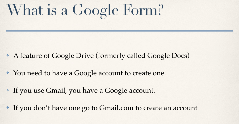 Technology Tailgate: Fun with Google Forms