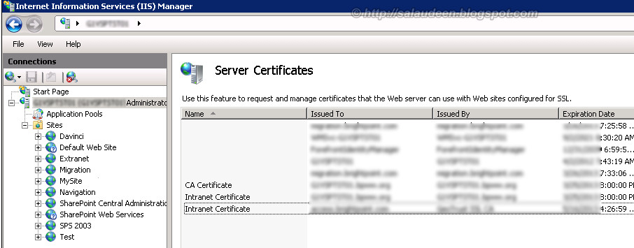 applying certificate in sharepoint