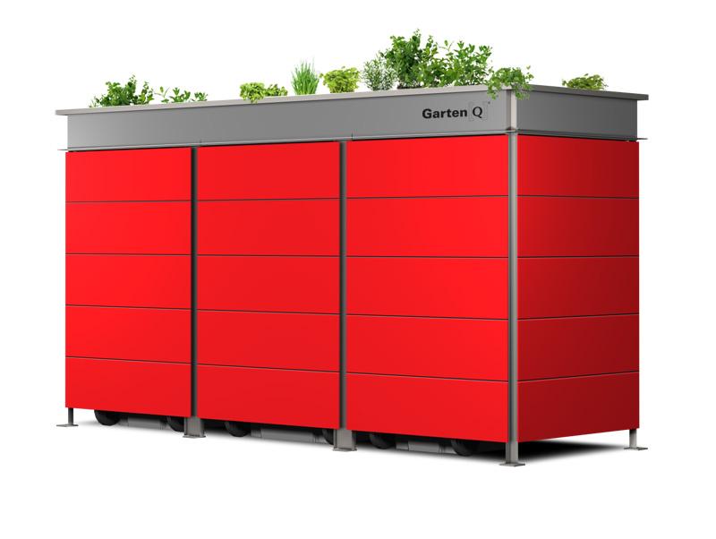Über 60 Farben für diese moderne Mülltonnenbox