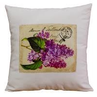 almofada vintage, almofada floral vintage, almofada romântica, almofada lavanda