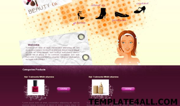 Girls Pink Beauty CSS Website Template