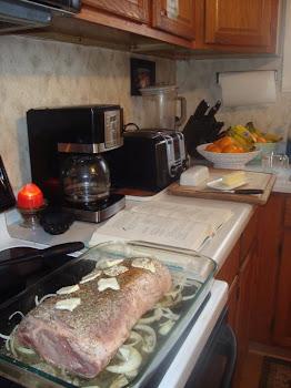 Preparation of Pork Roast for Oscar Night