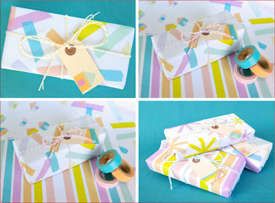 Packaging with washi tapes