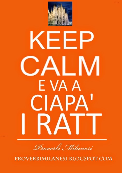 KEEP CALM - Va a ciapà i ratt