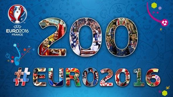 waktu hitungan mundur EURO 2106 Prancis