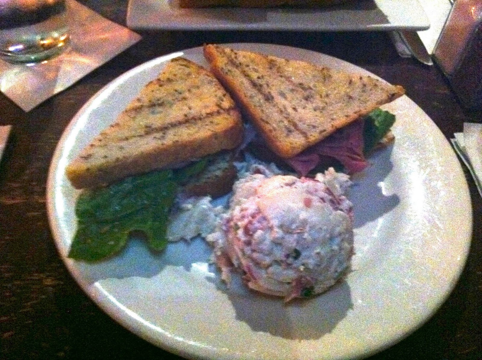 "The SDLT - $12.50 - ""A spice rubbed, smoked duck breast sandwich ..."