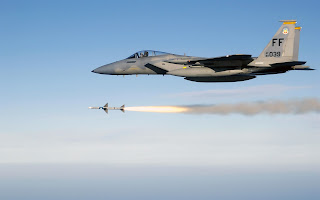 f 15 eagle firing aim 7 sparrow medium range air to air missile (57)