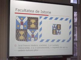 Însemnele Facultăţii de Istorie, 8.III.2011...