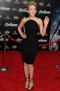 Scarlett Johansson In A Little Black Dress