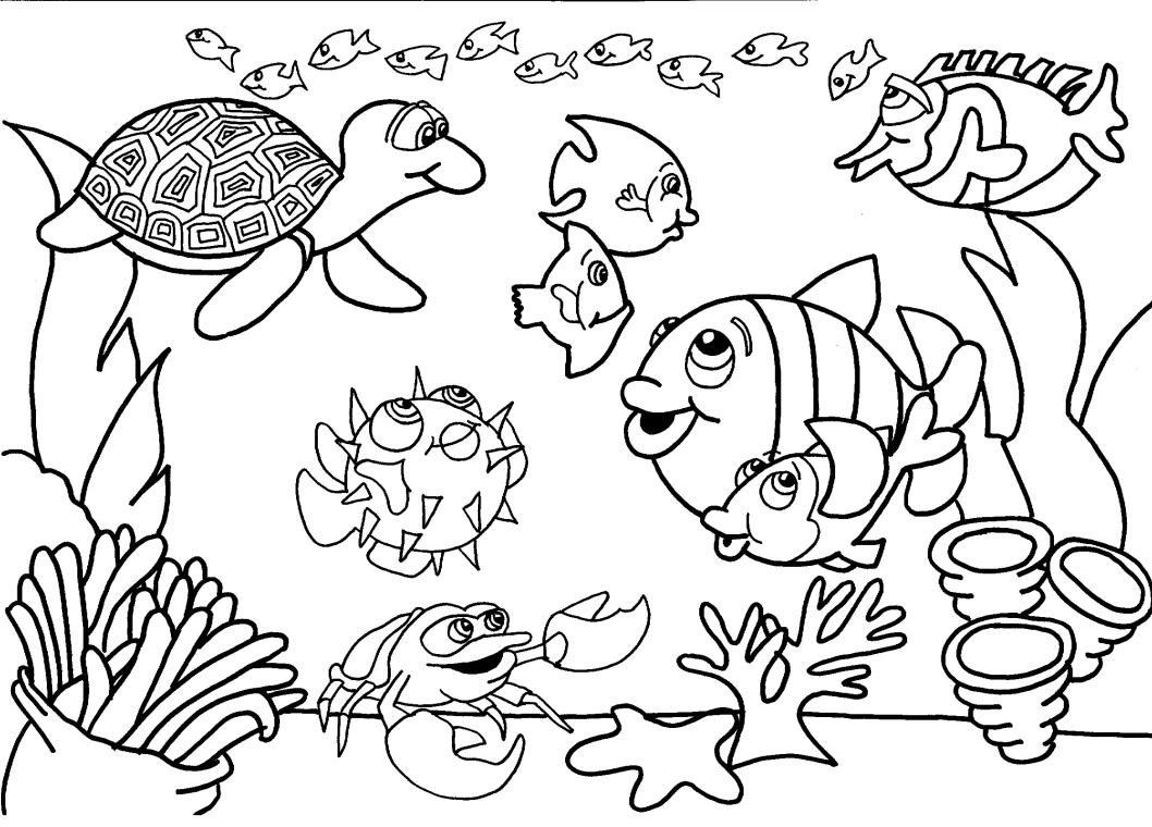Desenhos para Colorir - Fundo do Mar