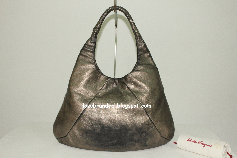 Love Branded: Salvatore Ferragamo Bronze Calfskin Hobo Bag (SOLD)