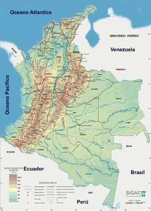 mapa climatico de colombia