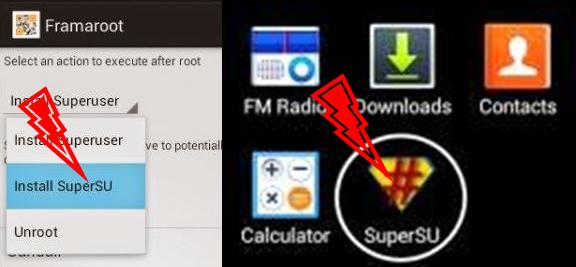pilih install super SU