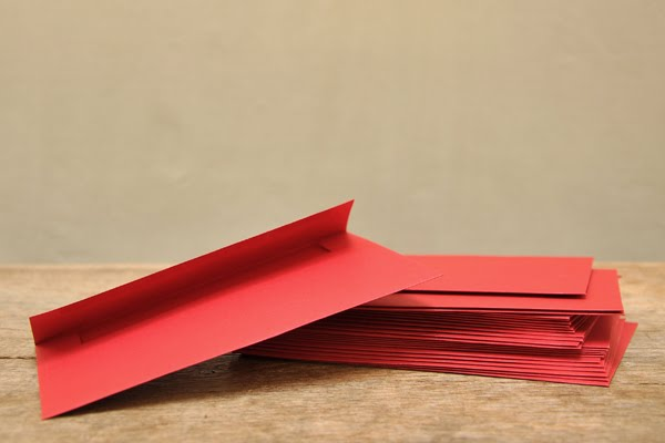 Pawling - Destash Red A6 Envelopes
