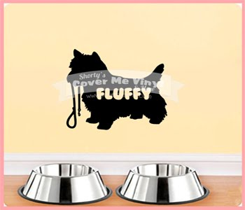 Yorkie Name Wall Decal