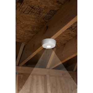 Mr. Beams MB 980 Battery Powered Motion Sensing LED Ceiling Light, White