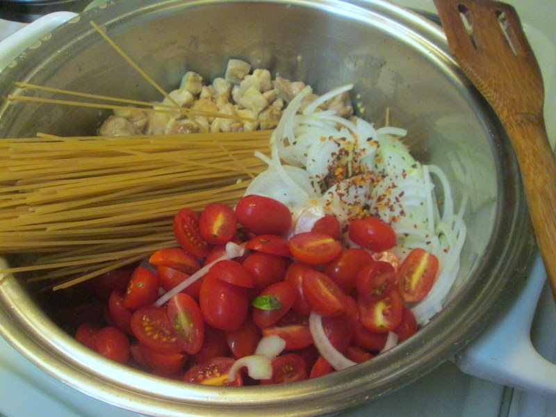 Summer Pasta cooking