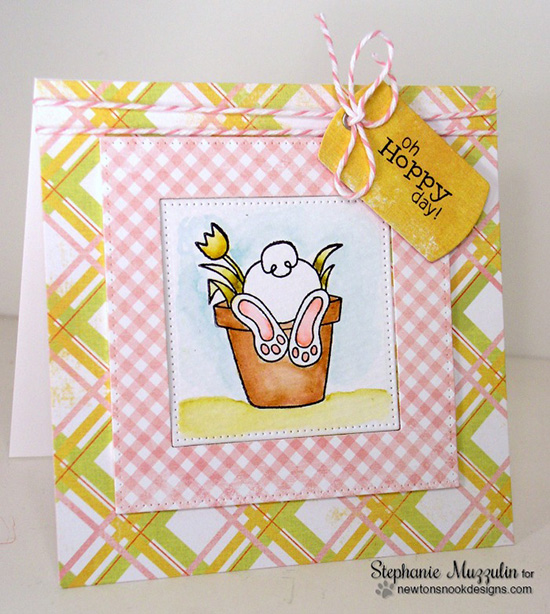 Hoppy Day Bunny Butt Card by Stephanie Muzzulin | Bunny Hop Stamp set by Newton's Nook Designs
