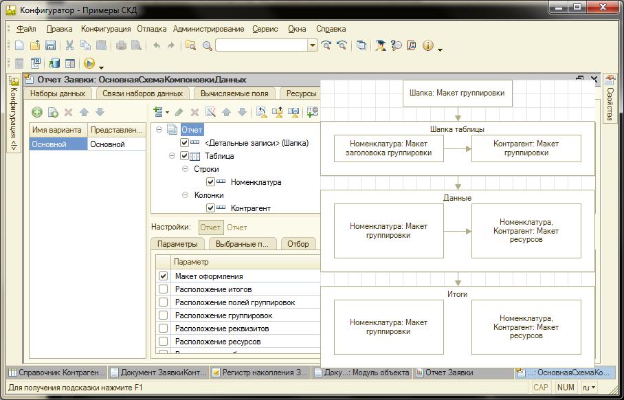 Свои макеты в схеме компоновки данных