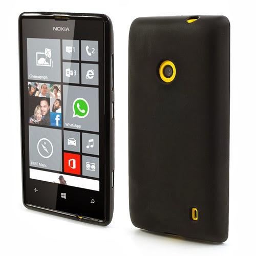 Matte Flexible TPU Jelly Case for Nokia Lumia 520 525 - Black