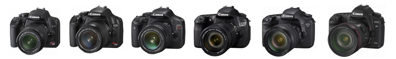Tous les appareils photos reflex de chez Canon