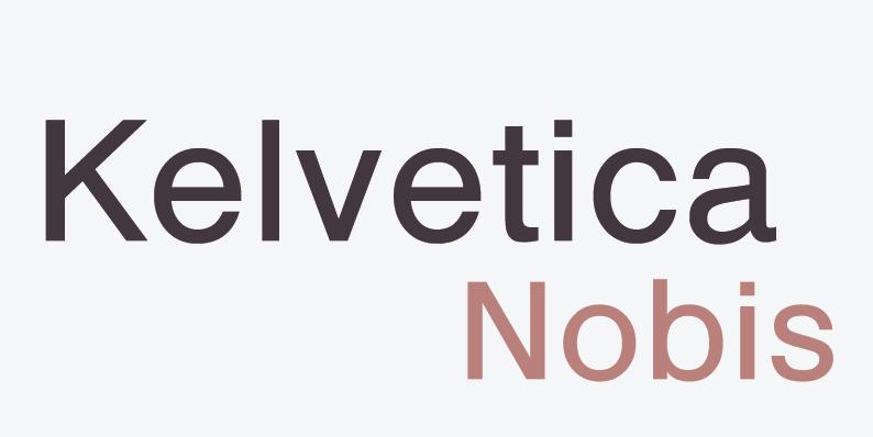 font logos kelvetica nobis