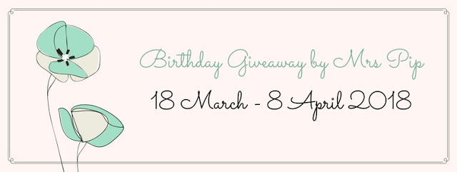 Birthday Giveaway by Mrs Pip