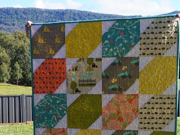 BlueBird Park Baby Quilt : Pre-Cut Friendly {Tutorial}
