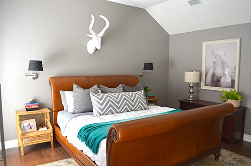 Fancy  the perfect bed for the master bedroom I had all but given up when I spotted a gorgeous leather sleigh bed from Ethan Allen on Craigslist