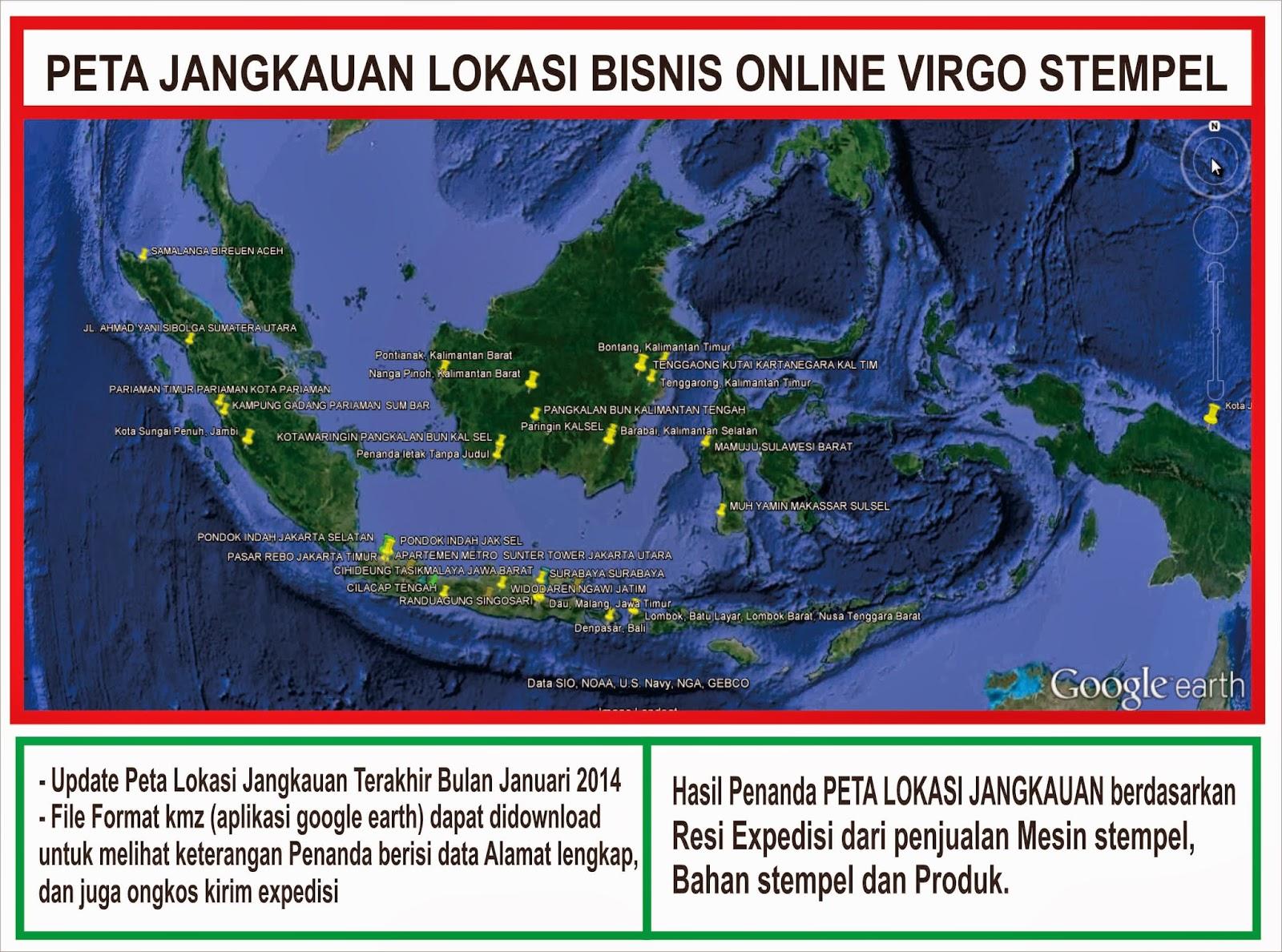peta jangkauan penjualan virgo stempel