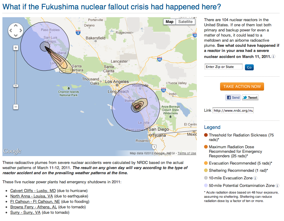 whats up: Nuclear Fallout - Map of U.S. Nuclear Power Plants ...