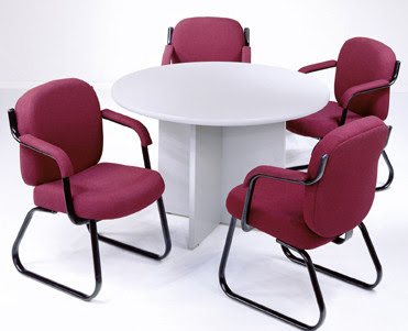 COF - Round office table with chairs