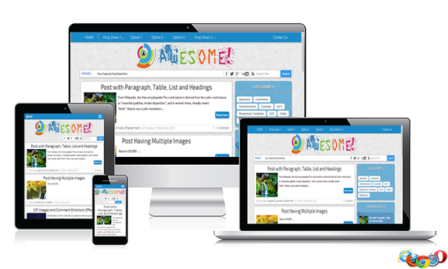 Awesome Responsive Blogger Template