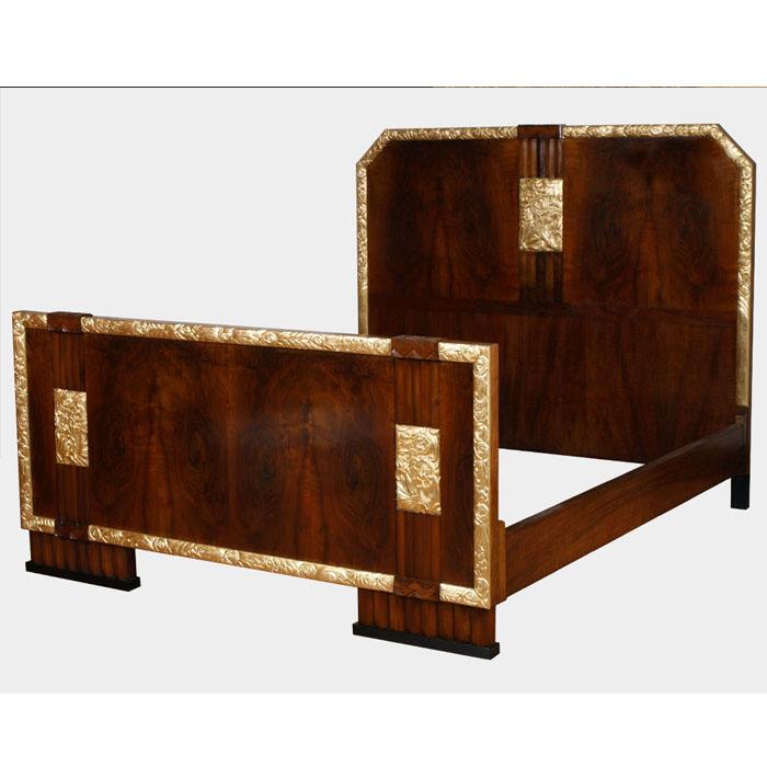 Mobili art deco atelier myartistic letto matrimoniale con comodini art dec bed with bedside - Art deco mobili ...