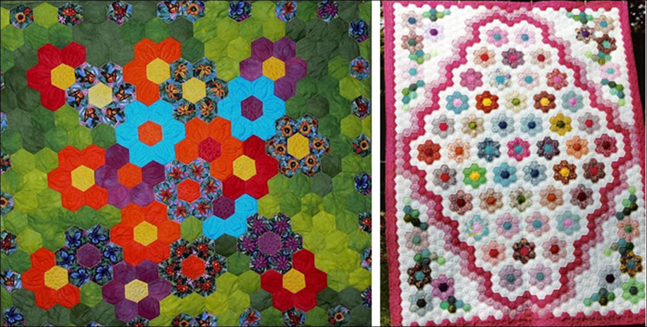 Art threads friday inspiration grandmother 39 s flower garden for Grandmother flower garden quilt pattern variations