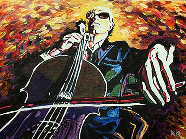 Artista que es ciego crea detalladas pinturas coloridas