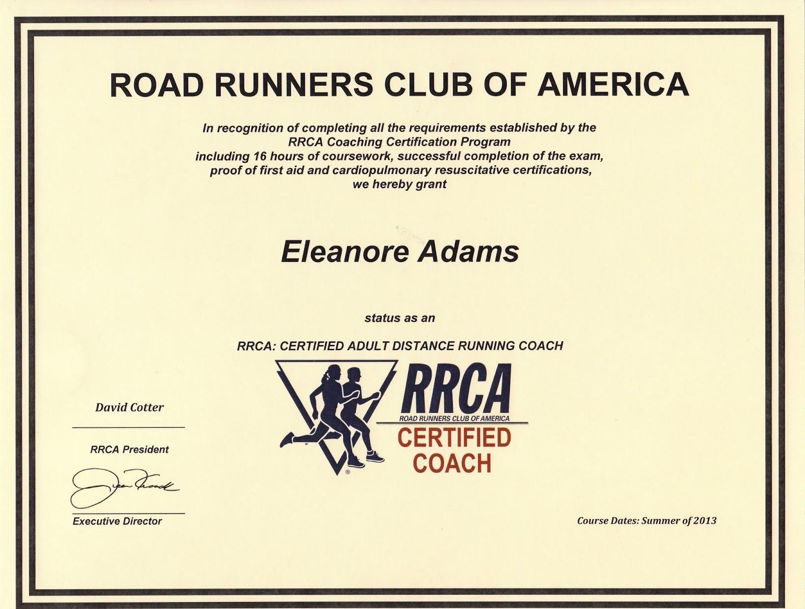 Rumrunner Eleanores Blog Rrca Running Coach