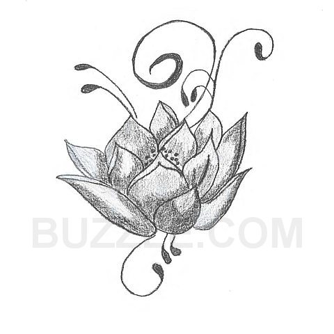 Egyptian lotus flower tattoo