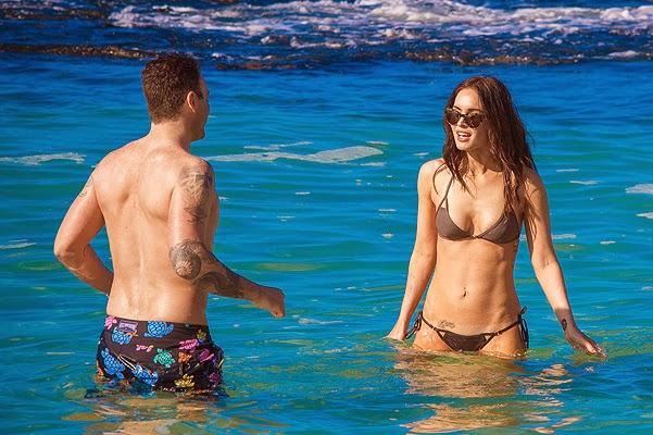 Summer on 'gossips': Megan Fox and Brian Austin Green in Hawaii