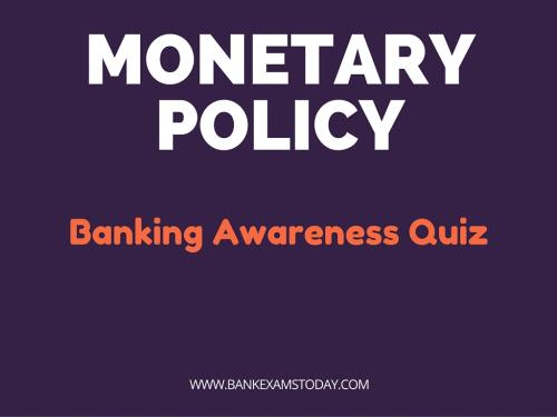 money and banking mcqs with answers