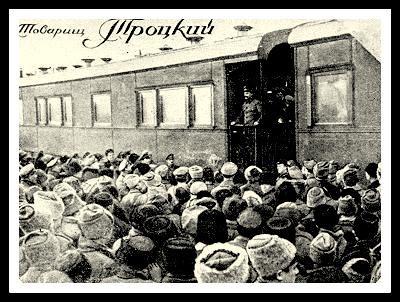 trotsky tren blindado ruso bolchevique