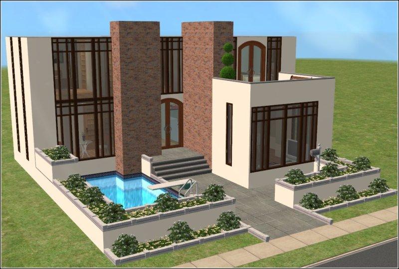 The sims 3 casas modernas em the sims 3 for Casa moderna sims 2